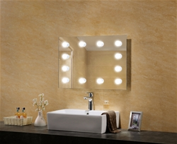 Sunflower LED mirror