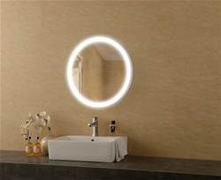 Galaxy lighted mirror